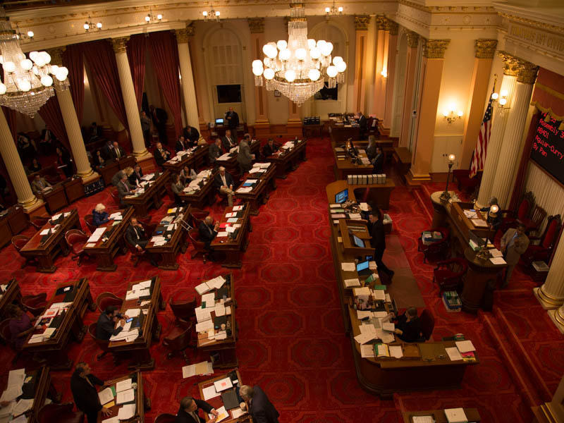 The California Senate chambers