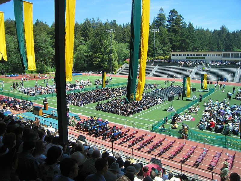 Graduation at Humboldt State.