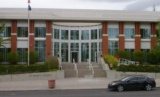 The Klamath County Government Center in Klamath Falls