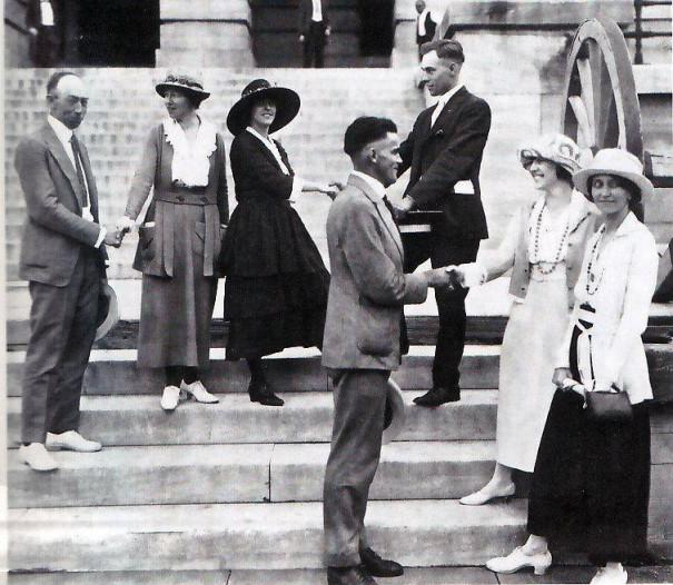 All smiles at the Tennessee Capitol after the vote in August 1920.