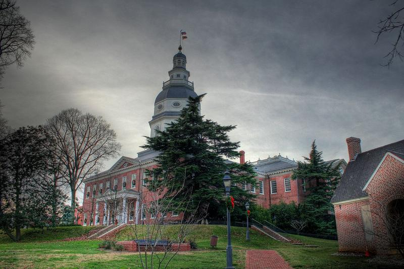 Church or state?  State-the Maryland State House.