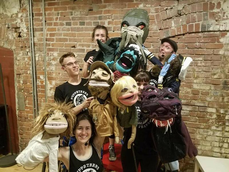 Cast and crew.  And puppets.