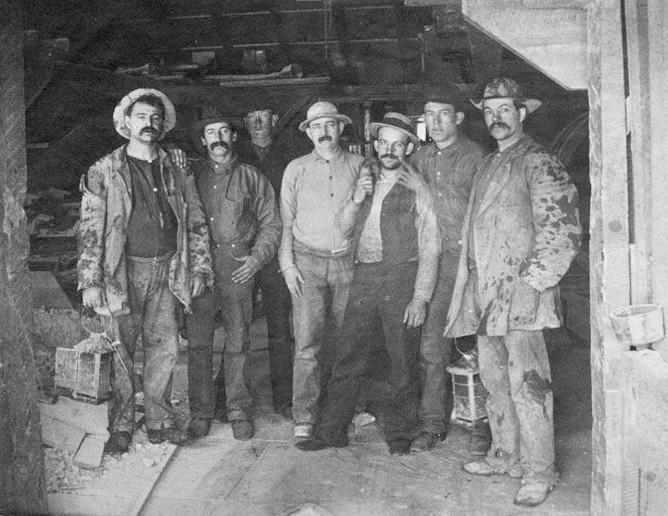Miners in Nevada's Comstock Lode in the 1880s.