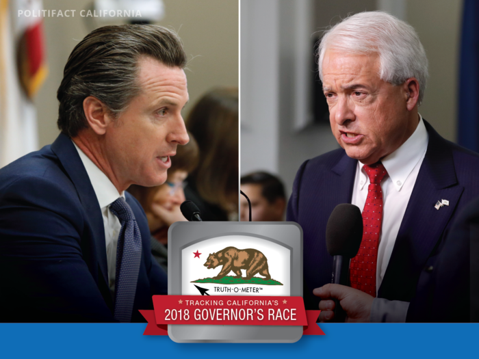 Democrat Gavin Newsom and Republican John Cox are competing for California governor.