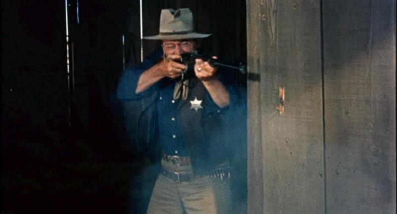 "John Wayne in ""Rio Bravo."""