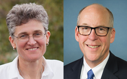 Democrat Jamie McLeod-Skinner (L) will take on 10-term Republican incumbent Greg Walden for the seat representing Oregon's huge 2nd Congressional District.