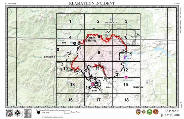 Crews Gain On Klamathon Fire Some Evacuations Downgraded Klcc