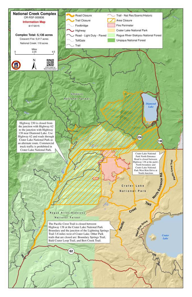 Diamond Lake Fire Forces Another Temporary Road Closure