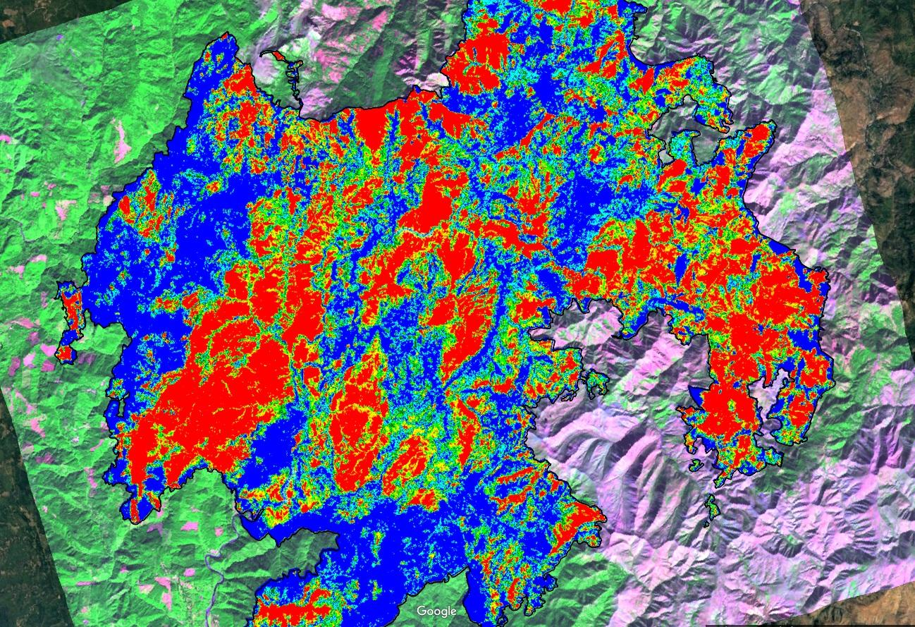 The Damage Done How Much Fixing Does The Chetco Bar Fire Need - Us wildfires google map