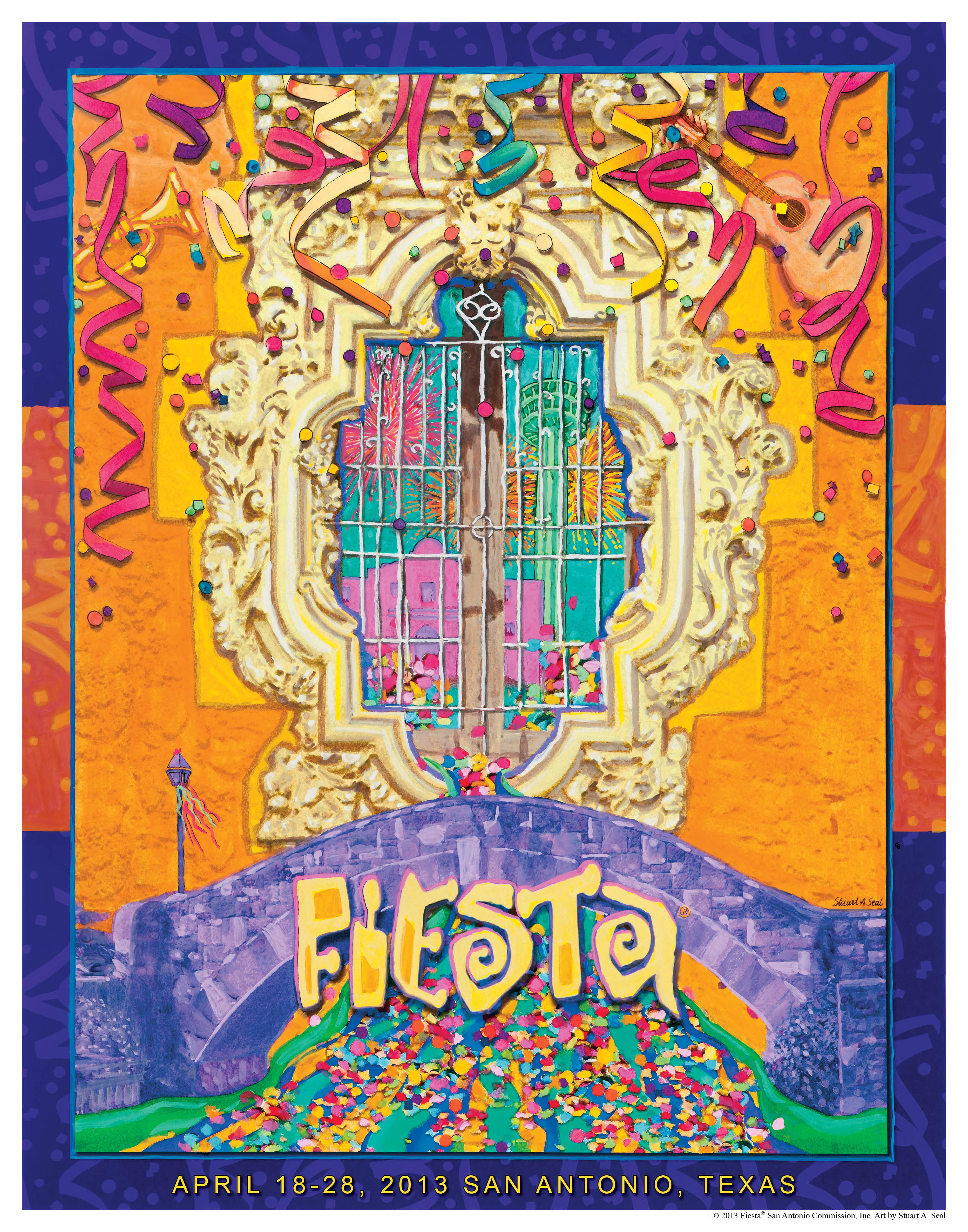 Fiesta 2013 Poster 'Celebrates Culture, History and Spirit' of Event