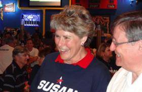 Susan Pamerleau at a campaign event.