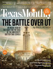 Texas Monthly Cover for October 2012