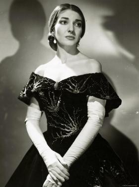 Publicity photo of Maria Callas (1923 – 1977) as Violetta in La Traviata at the Royal Opera House (1958).