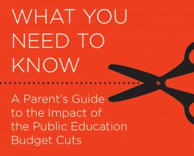 Children at Risk are providing a parent's guide to education budget cuts, which includes suggested action for how to get involved.