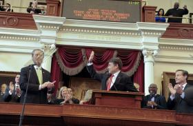 Gov. Rick Perry at the State-of-the-State address this January.