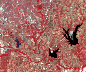 Landsat image of Southeast San Antonio in 2011.