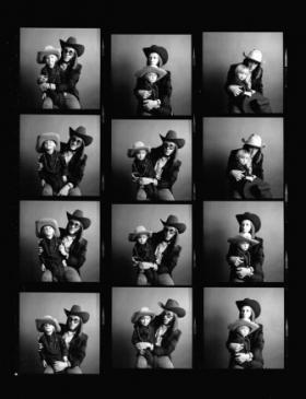Doug Sahm and son Shawn pose for photos that would be his Rolling Stone Cover.