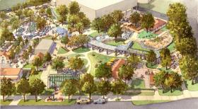 Artist rendering of the playscape planned for the southwest corner of Hemisfair.