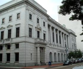 The John Minor Wisdom U.S. Courthouse, home of the United States Court of Appeals for the 5th Circuit, New Orleans, Louisiana.