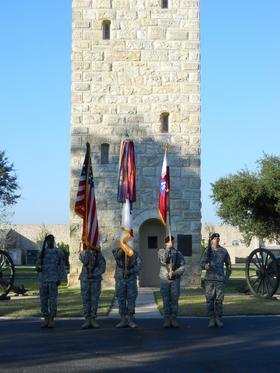 Military ceremony at Fort Sam Houston, Texas