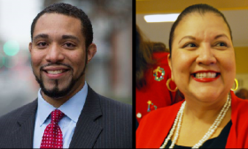 Tommy Calvert and Debra Guerrero are trying to be the Democrat on the Precinct 4 ticket in November.