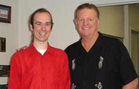 TPR's Nathan Cone with former Astros manager, Larry Dierker.