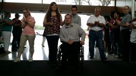 Army Specialist Crawford did not expect to receive a smart home when he arrived at H-E-B Wednesday. He was coming to the store, he thought, for a second interview for the home.