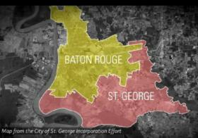 What cities of Baton Rouge and St. George would look like.