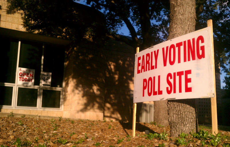 Early voting locations like this one at Brook Hollow Library in North San Antonio have been busy since early voting began earlier this week.
