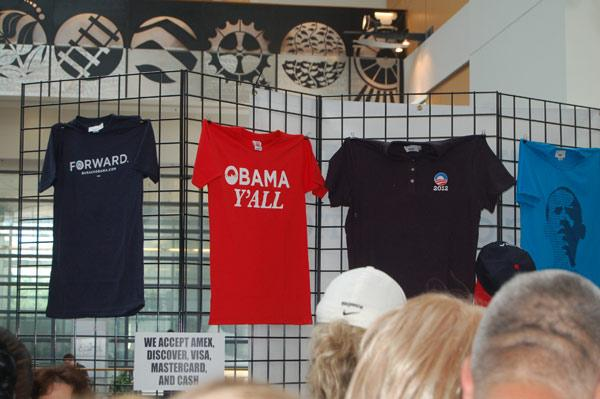 Obama merchandise at the Democratic National Convention