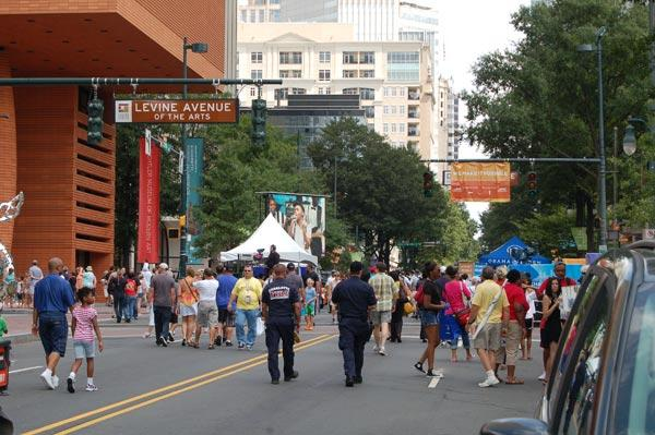 The Labor Day festival in Charlotte, N.C. drew convention-goers and locals alike
