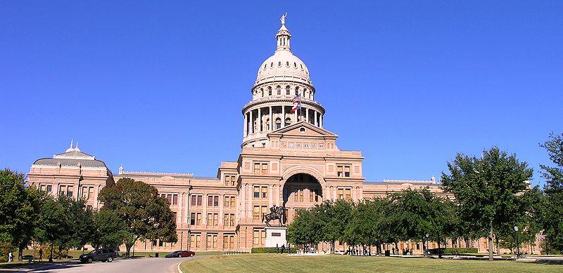 State of Texas Capitol building in Austin.