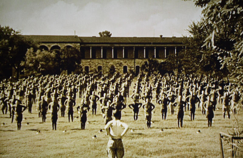 "Recruits in basic training, from ""Wings."""