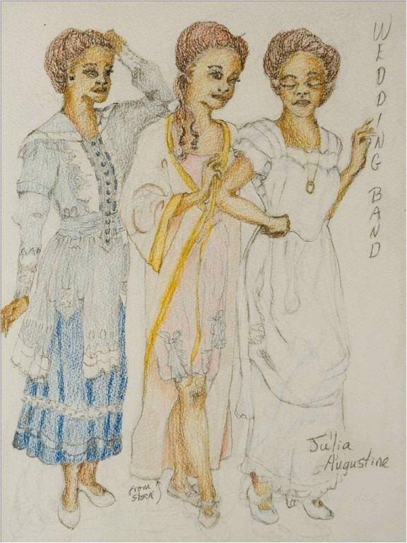 "Costume Design for Julia Augustine in ""The Wedding Band,"" Steppenwolf Theatre Company 2003"