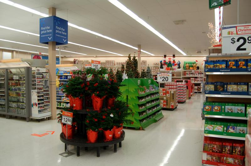 Christmas items began appearing on store shelves in September