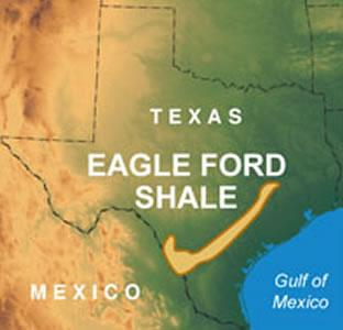 The Eagle Ford Shale region in South Texas.
