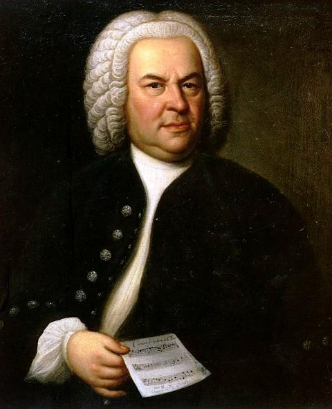 Johann Sebastian Bach at 61 years old.