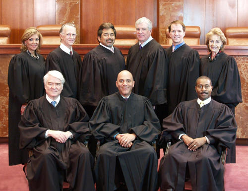 Portrait of the current Texas Supreme Court.