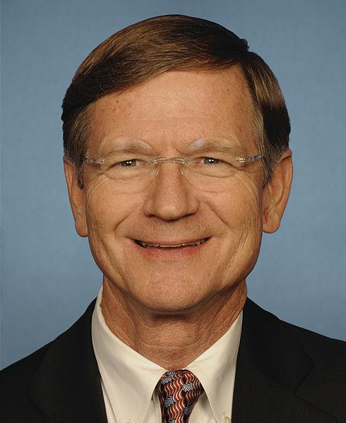 Congressman Lamar Smith's official portrait for the 112th Congress (2011-2012).