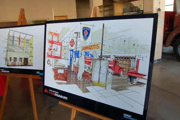 A rendering of the museum inside Fire Station Number 1 downtown. The old firehouse will turn 75 years old in February, when the museum is expected to open