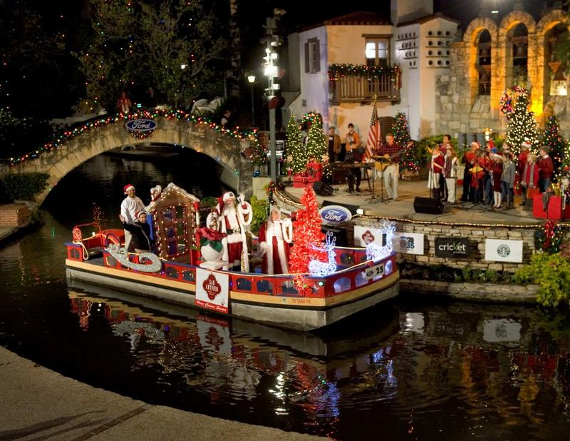 2011 Christmas River Parade on the San Antonio River.