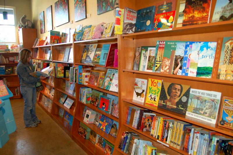 Customers shop at the Twig Book Store at the Pearl for Small Business Saturday