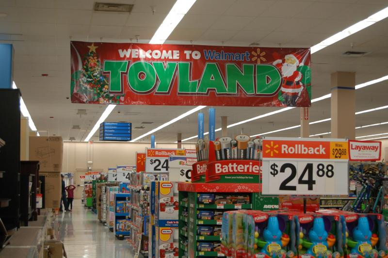 Wal-Mart began preparing for the holiday shopping season a year ago, and started setting up holiday displays in September