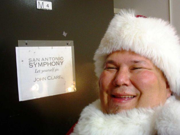 John Clare as Santa Claus for the Symphony's Holiday Pops performance.