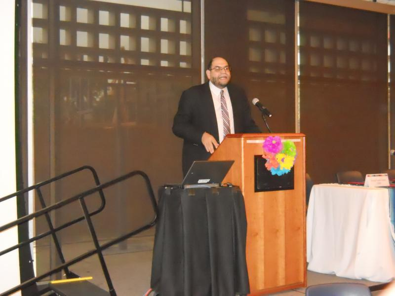 Dr. Rogelio Saenz, dean of UTSA College of Public Policy, presents a demographic study at The Future of Latino Health Conference