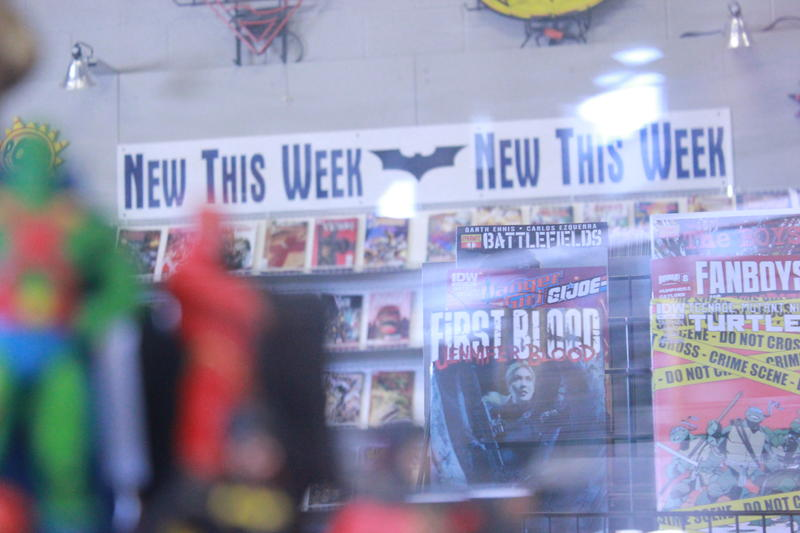 There are about 200 regular subscribers who pick up new comics on a regular basis.