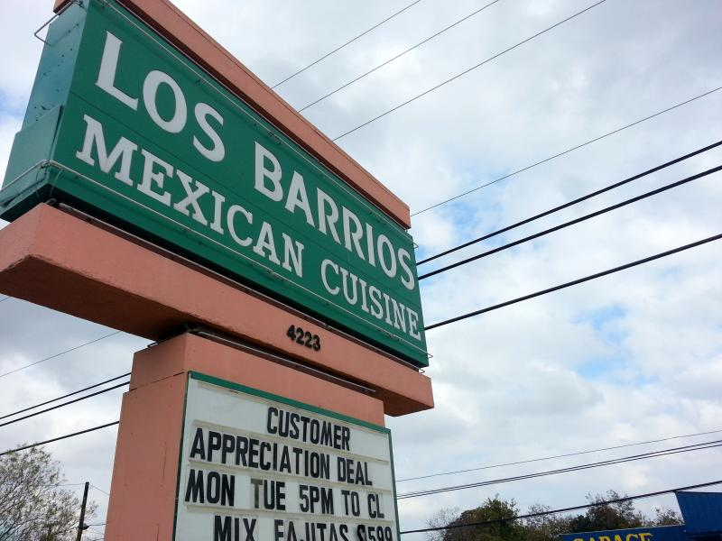 Popular Mexican restaurant Los Barrios is in the construction zone along Blanco Road