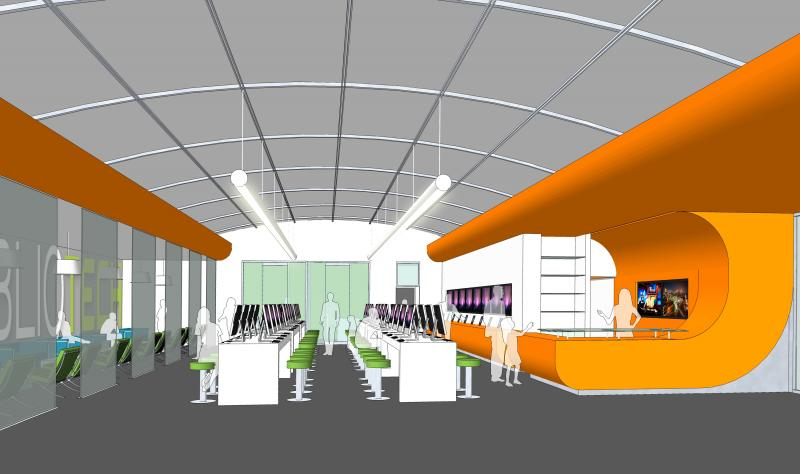 Concept Interior design of 'BiblioTech'