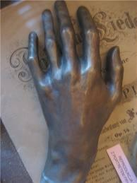 A casting of Chopin's hand