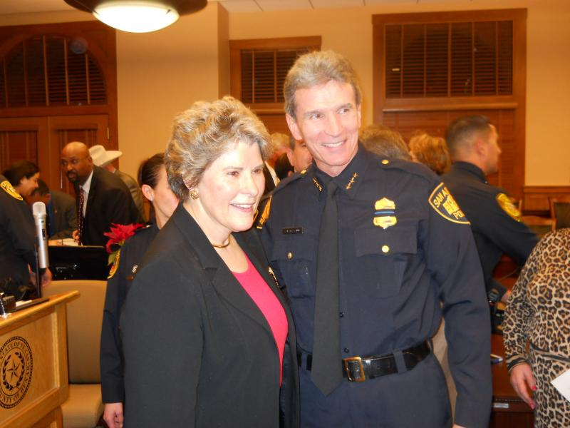 Bexar Co. Sheriff Susan Pamerleau with SAPD Chief William McManus